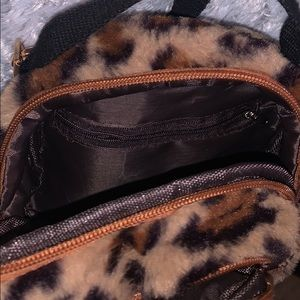 Handbags - Furry leopard print crossbody
